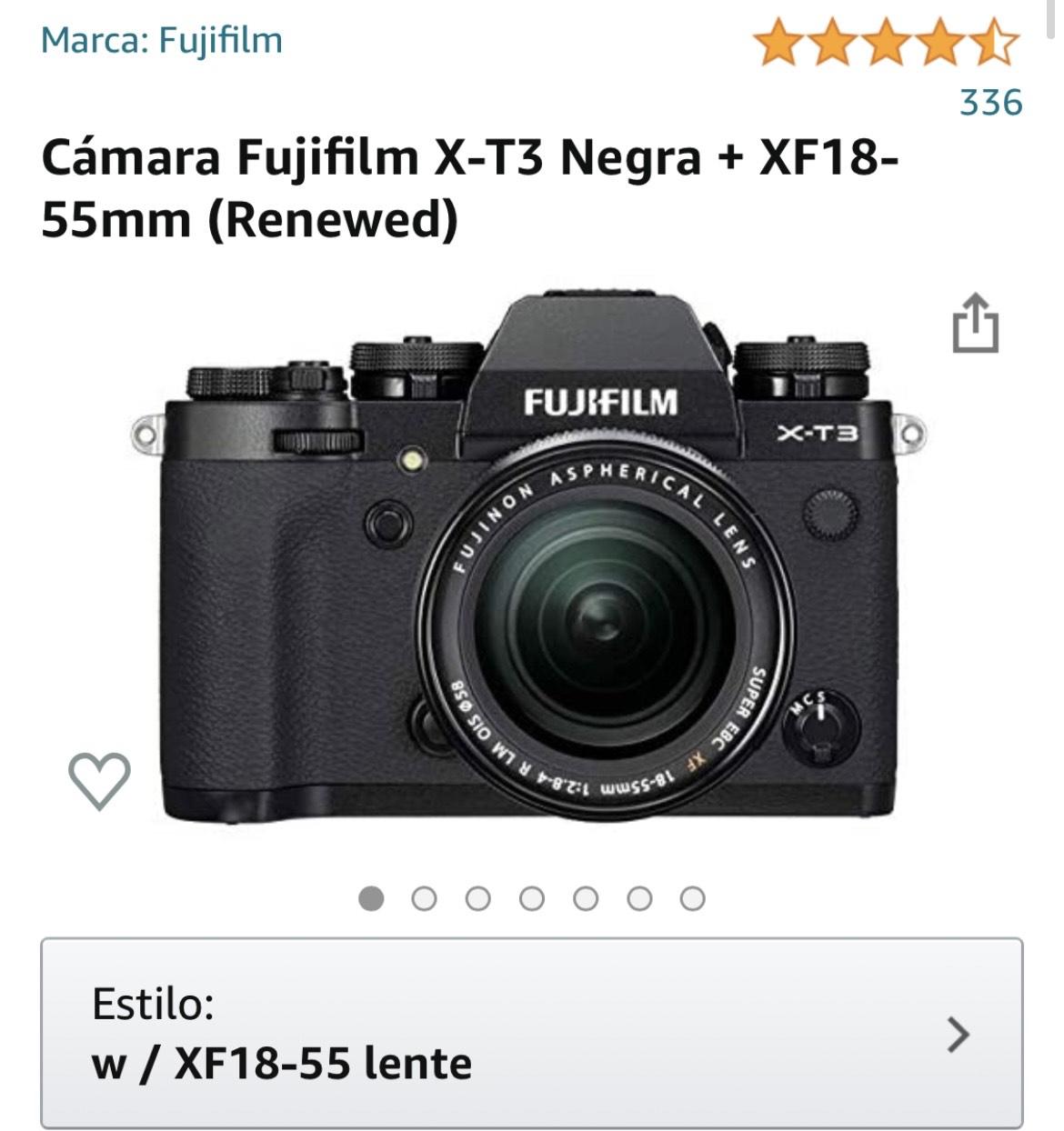 Amazon, Fujifilm X-T3 Negra + XF18-55mm