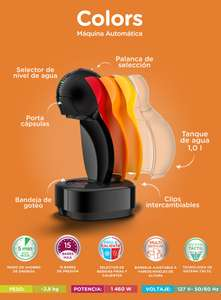 Dolce Gusto, Cafetera colors automática