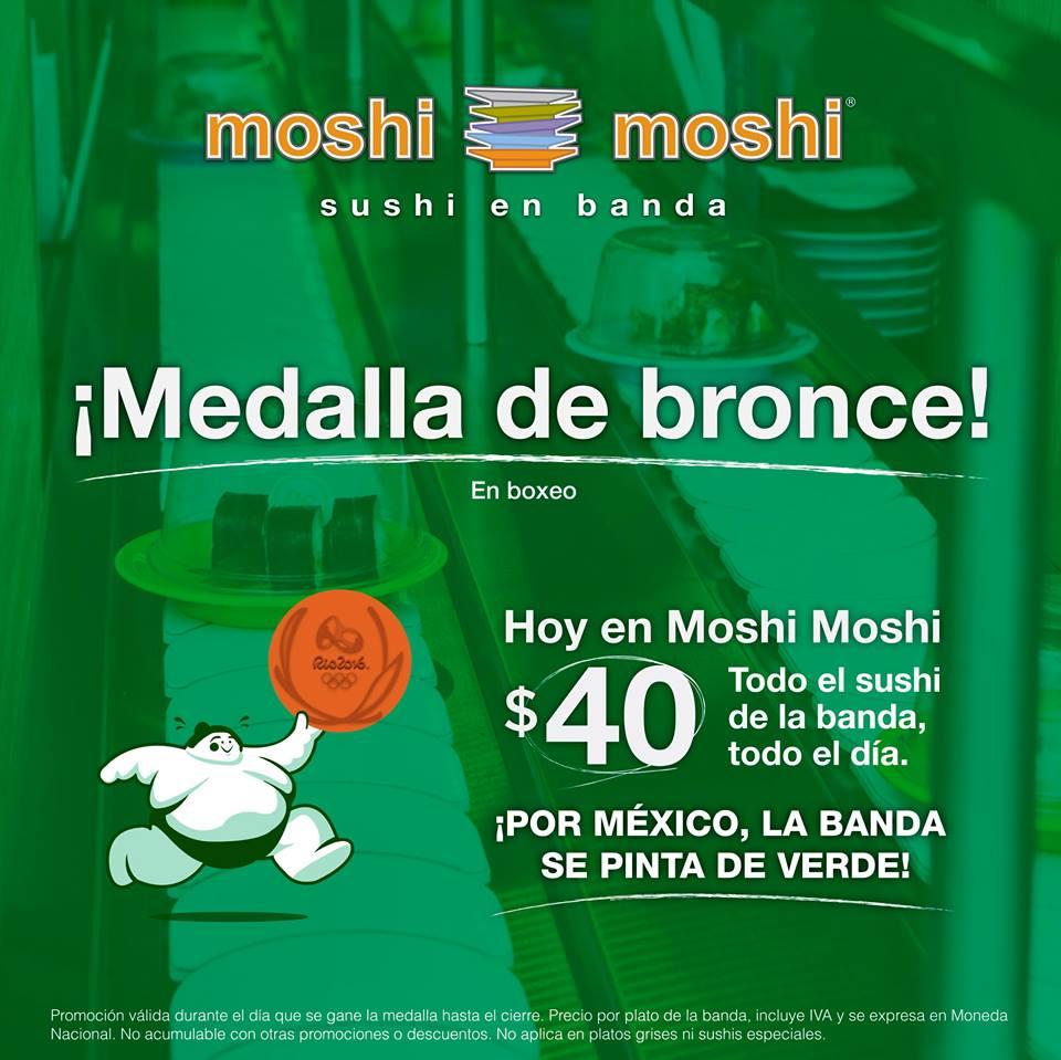 Moshi Moshi: Todo el sushi $40 todo el día (de la banda) Hoy jueves 18