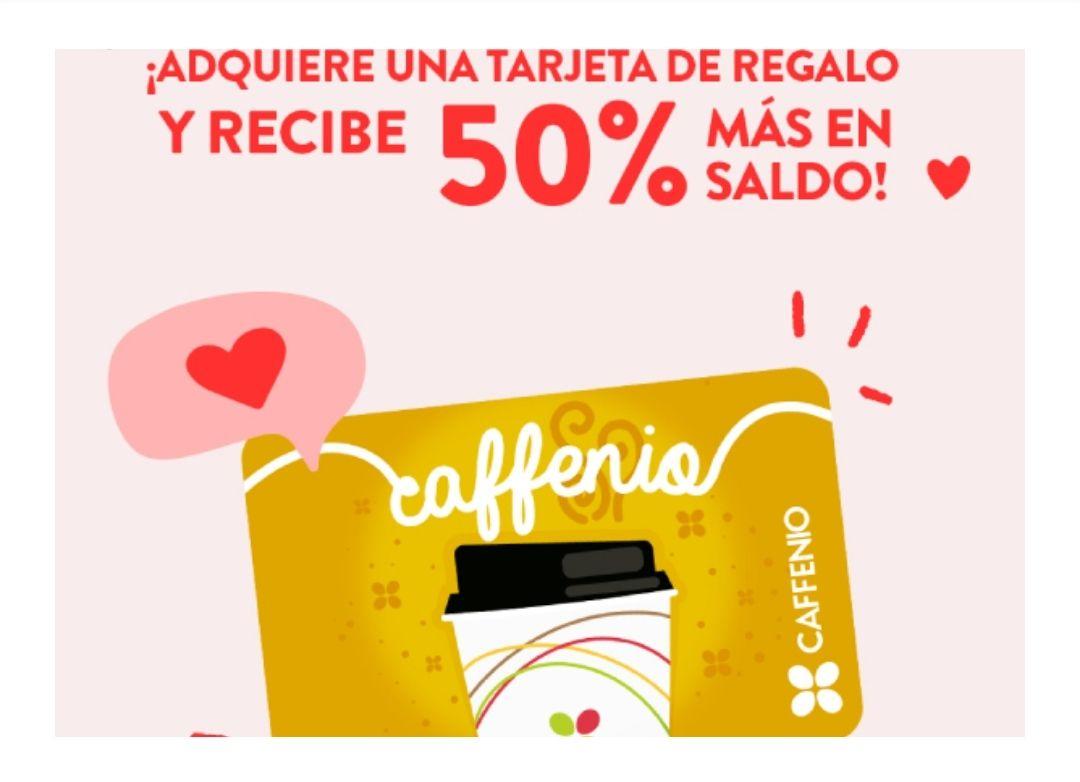Caffenio: 50% más en saldo de regalo