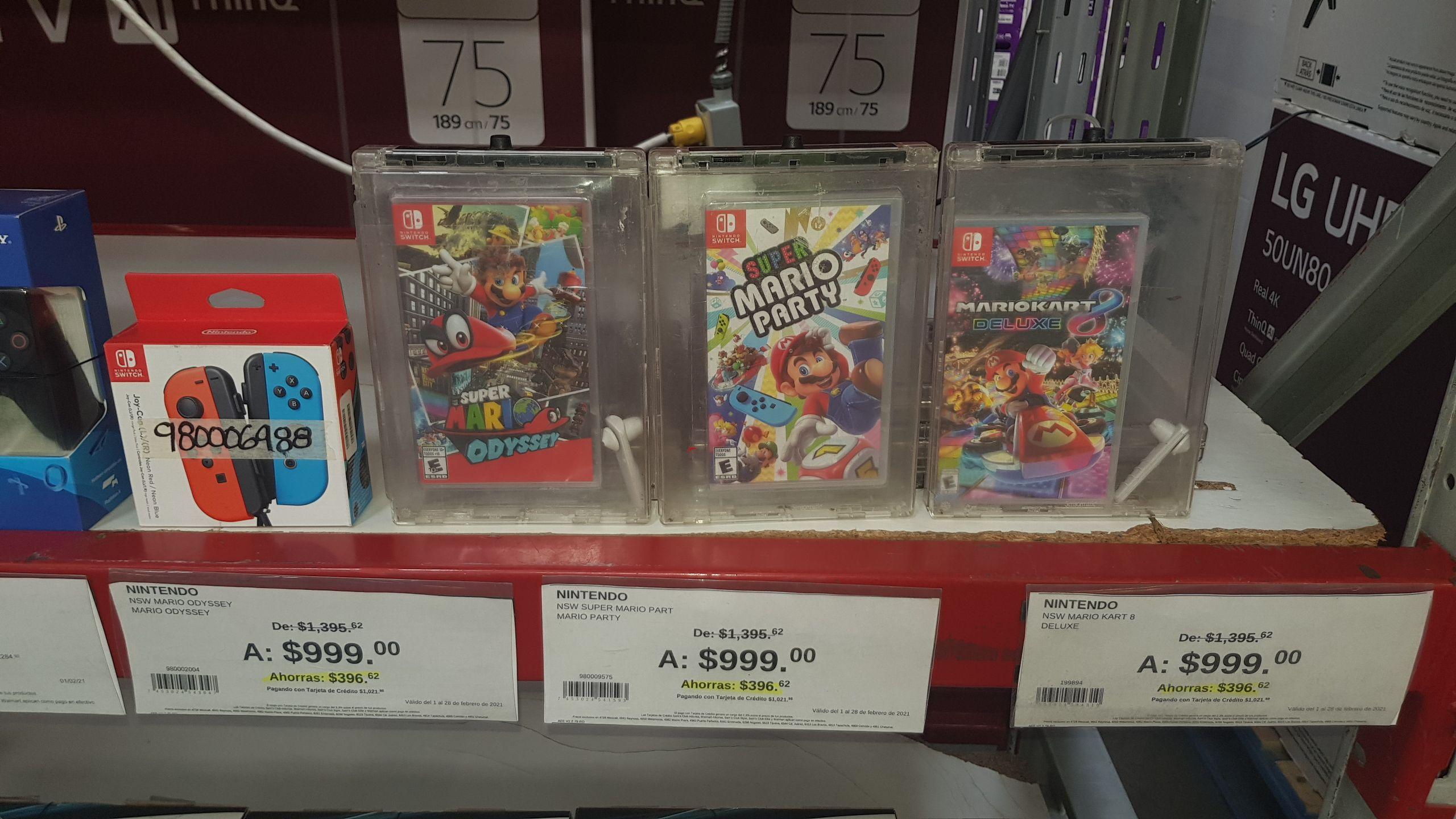 Sam's Club: Súper Mario Odyssey, Mario Party, Mario Kart Nintendo Switch!!
