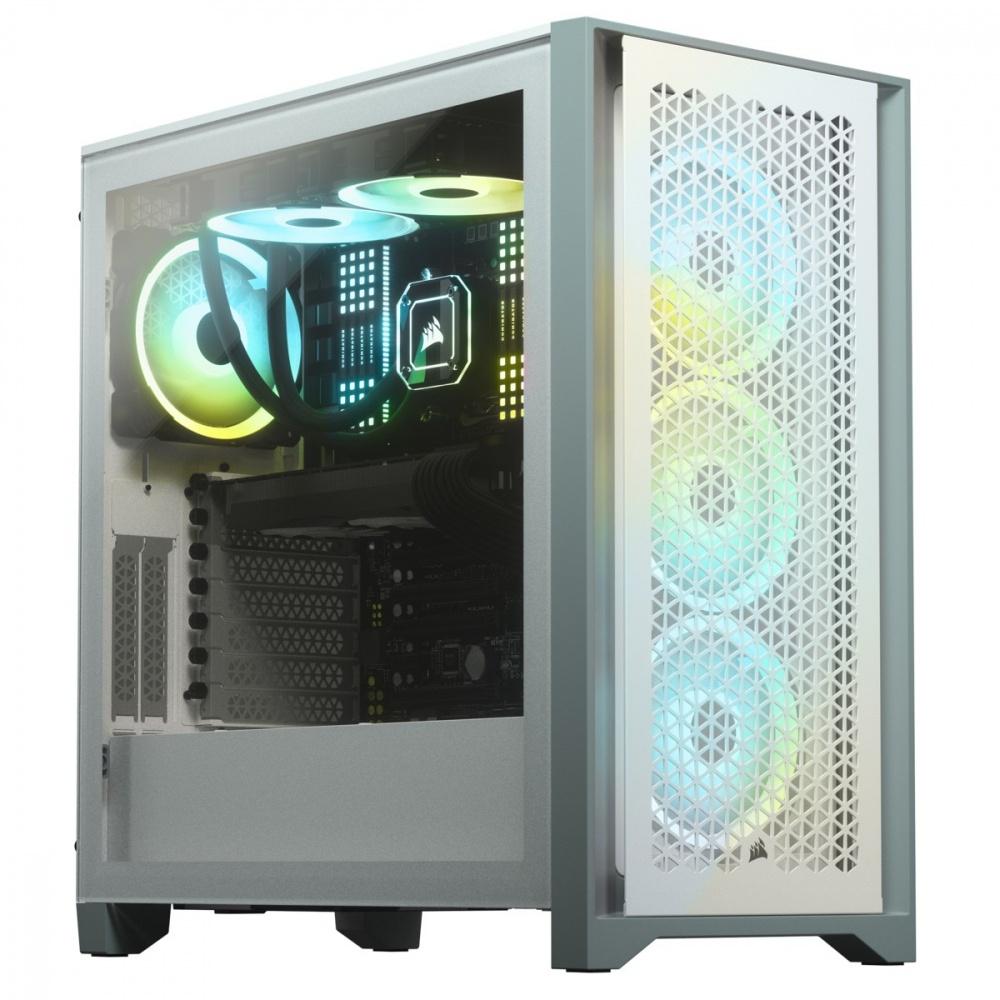 Gabinete Corsair 4000D Airflow, Midi-Tower, ATX, USB 3.0, Blanco - Cyberpuerta