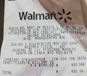 Walmart Interlomas...pack de 2 William lawson