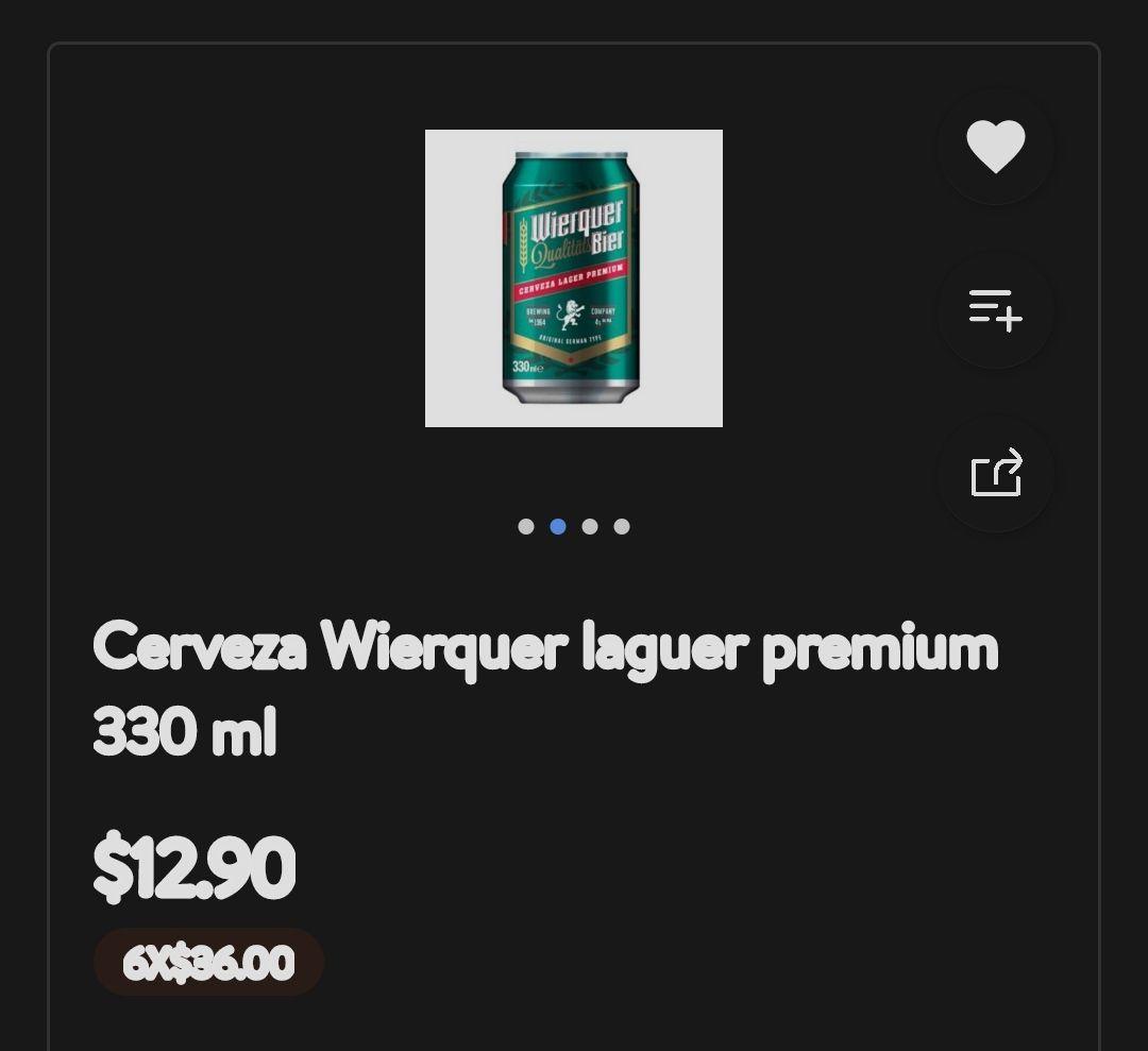 Walmart App Cerveza Wierquer laguer Premium 6x36.00