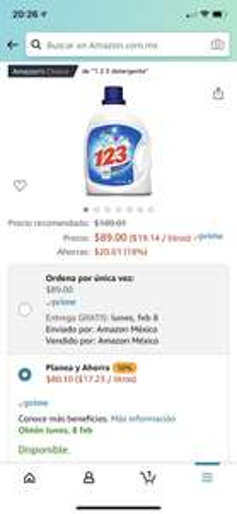 Amazon: 123 Maxi Poder 4.65L