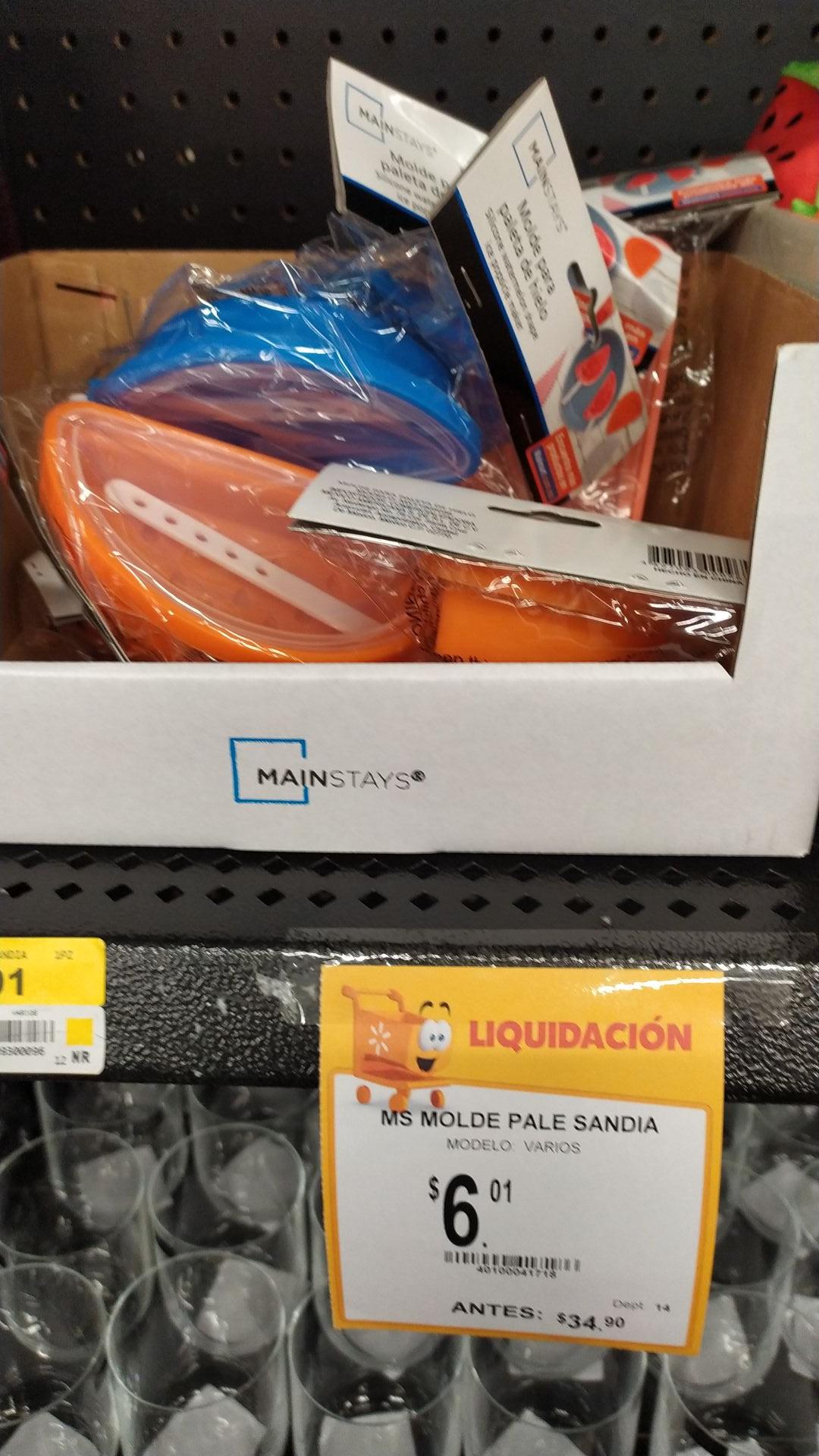 Walmart: Molde de silicón para paletas