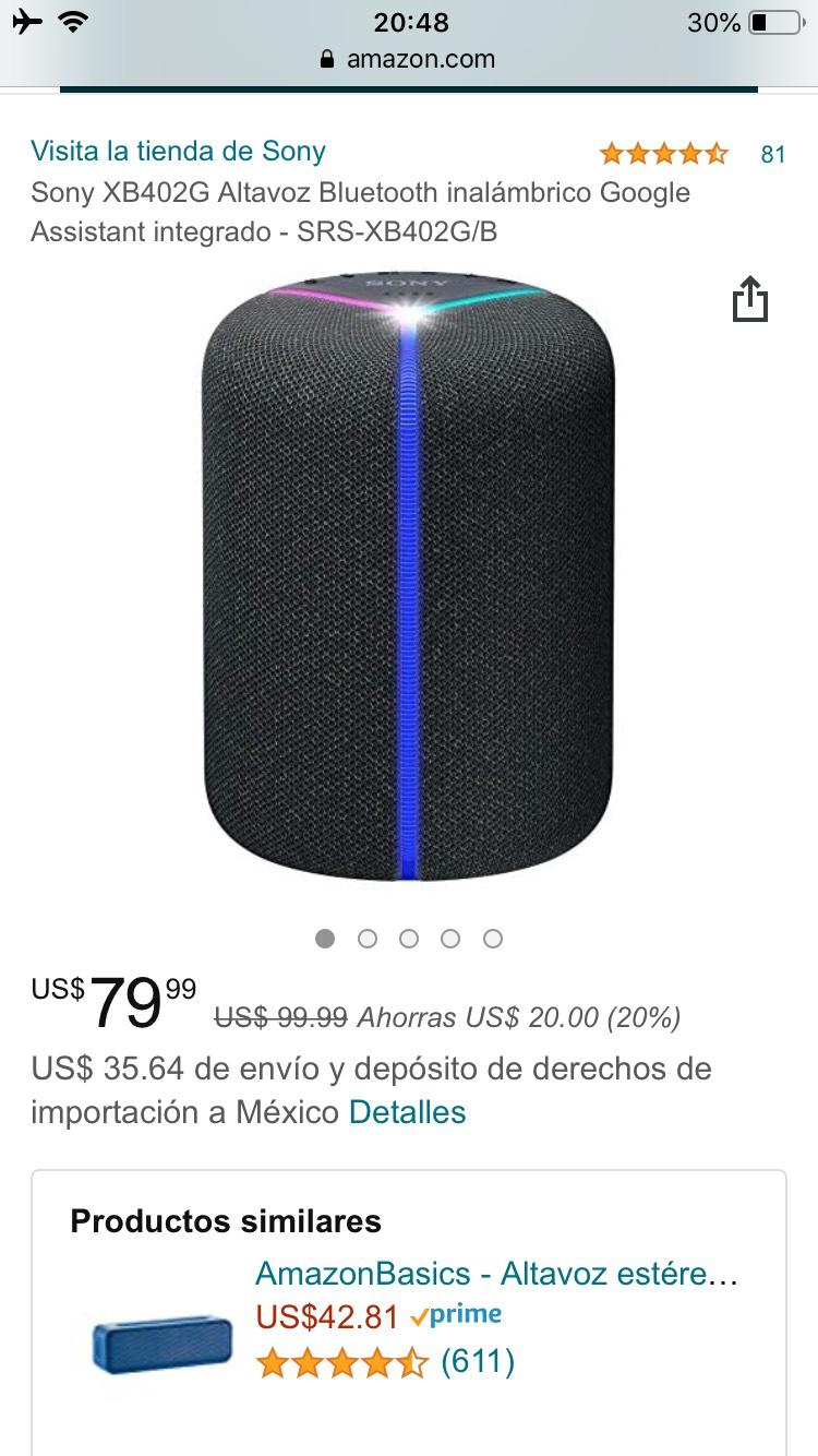Amazon: Bocina Sony XB402G