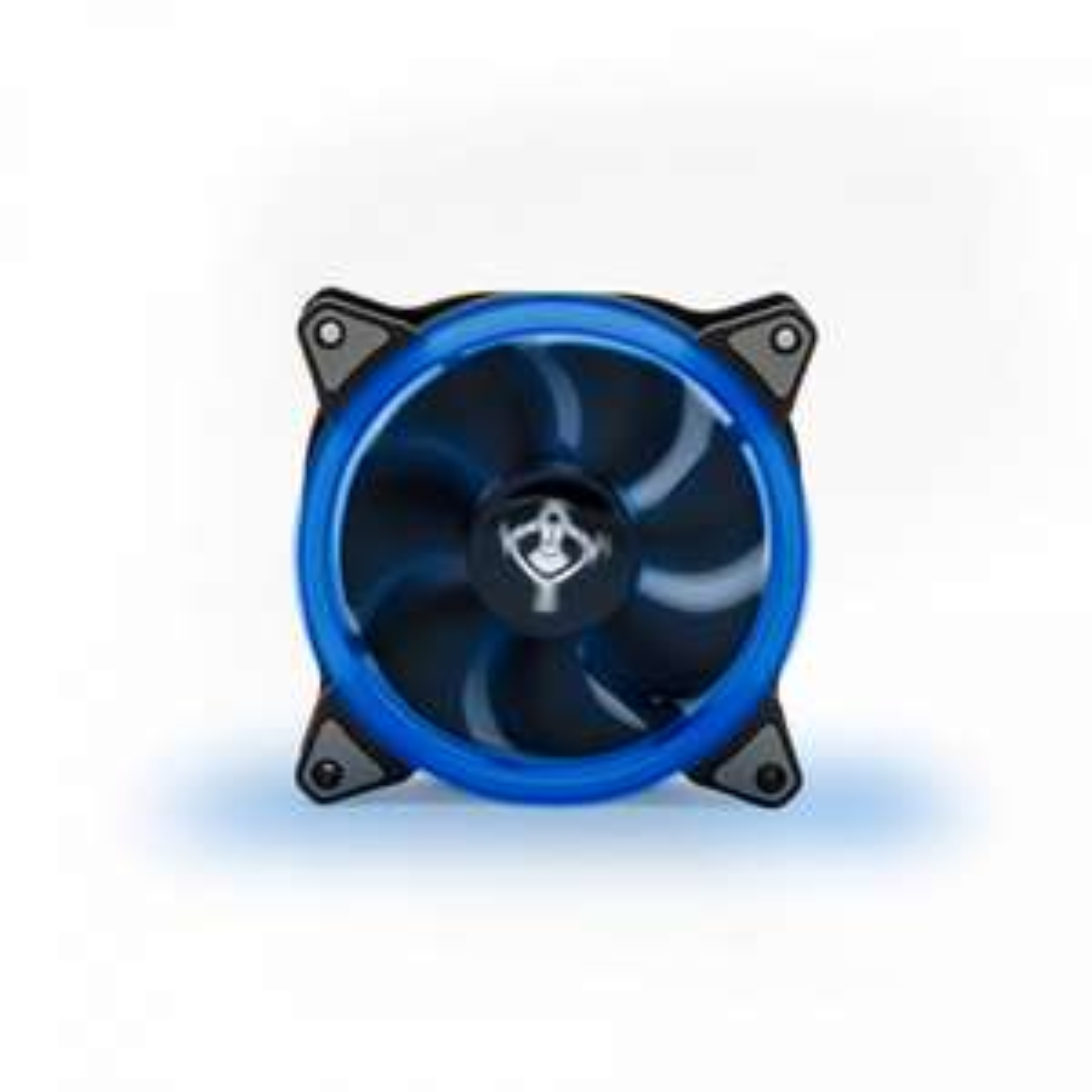 CyberPuerta: Ventilador Yeyian Typhoon LED Azul, 120mm, 1500RPM, Negro, 3 Piezas