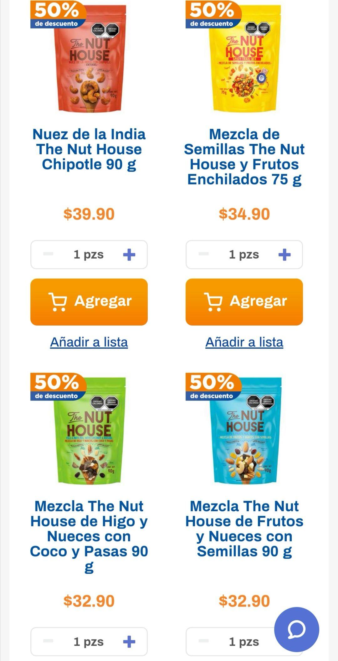 Chedraui: 50% de descuento en botanas Nuthouse doy pack