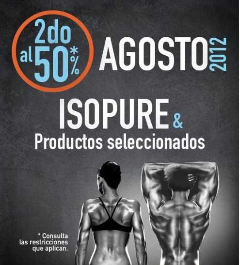 GNC: 50% de descuento en el segundo ISOPURE y productos seleccionados