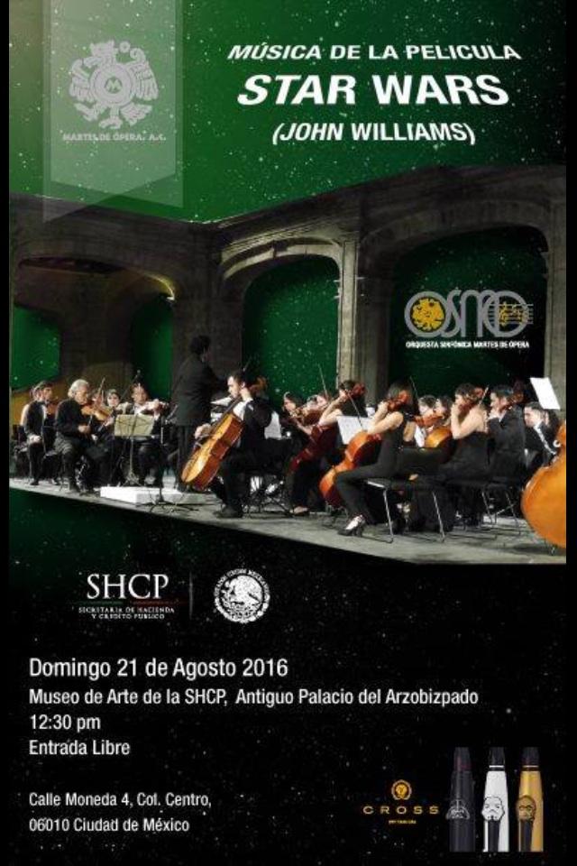 MUSEO SHCP: STAR WARS MUSICA CON ORQUESTA