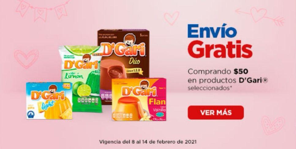 Chedraui: Envío gratis en la compra de $50 en productos D'Gari seleccionados