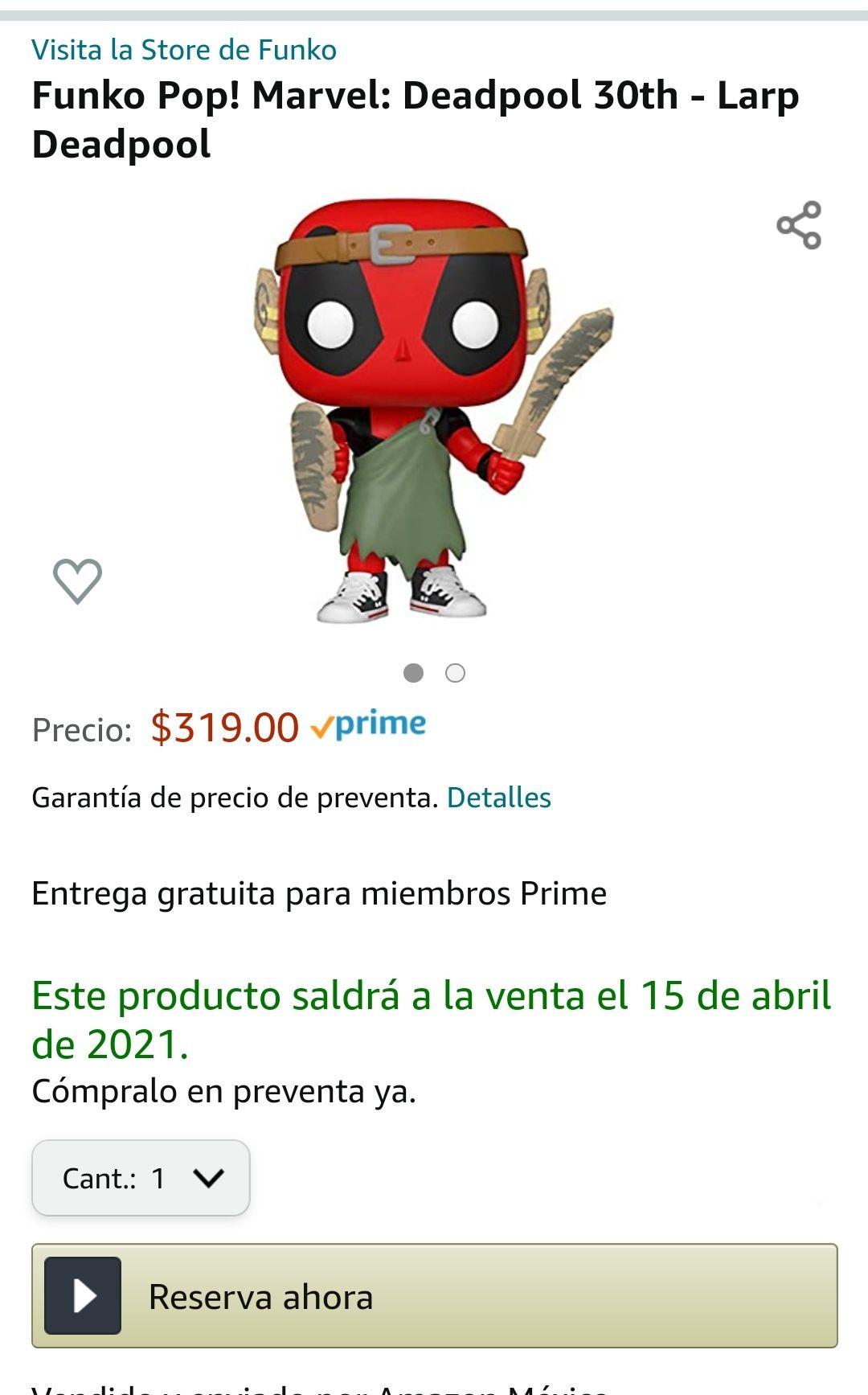 Amazon: Preventa - Funko Pop! Marvel: Deadpool 30th - Larp Deadpool