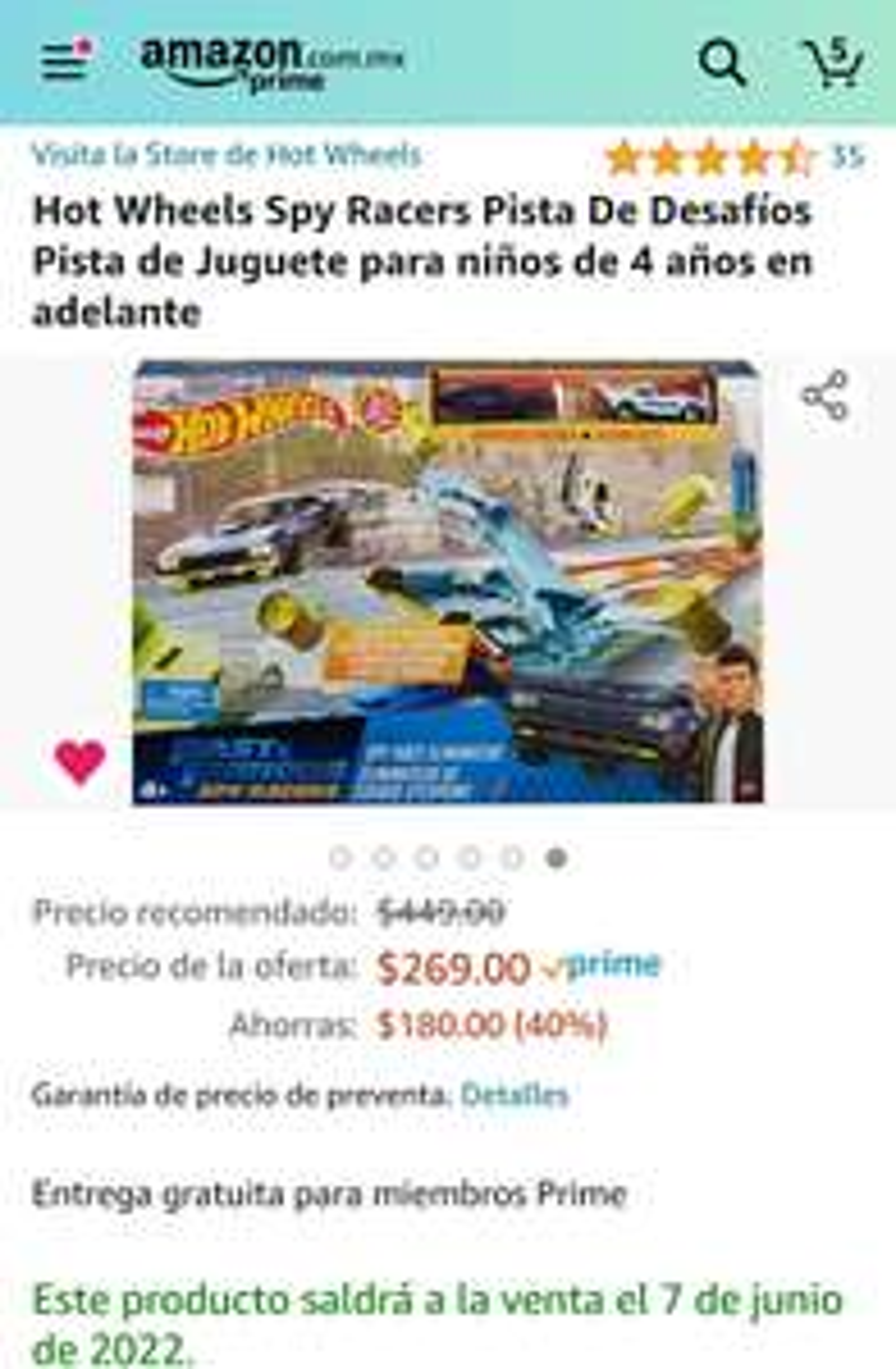 Amazon: Preventa - Hot weels spy racers