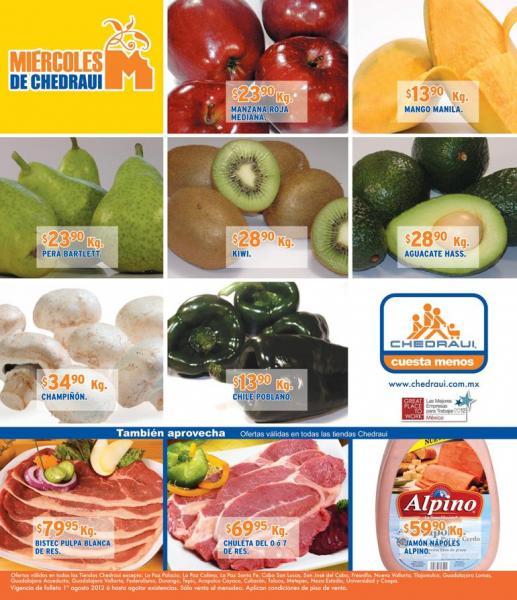 Miércoles de frutas y verduras Chedraui agosto 1: uva $18.90, cebolla $8.90 y más