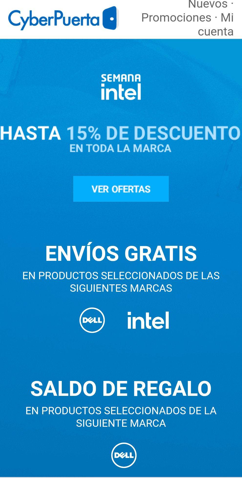 Cyberpuerta: Hasta 15% en Intel