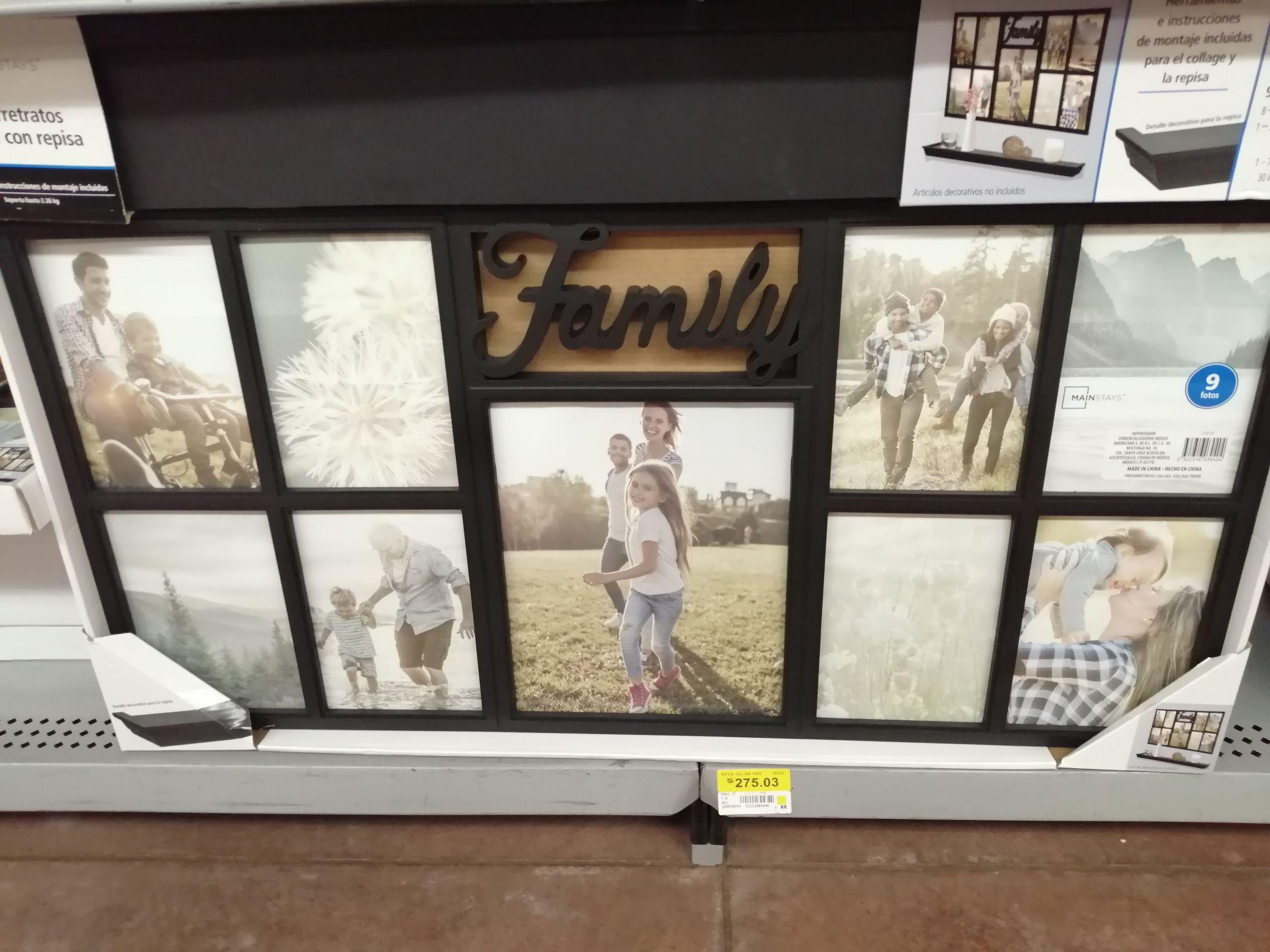 Walmart: Portaretratos Collage con Repisa