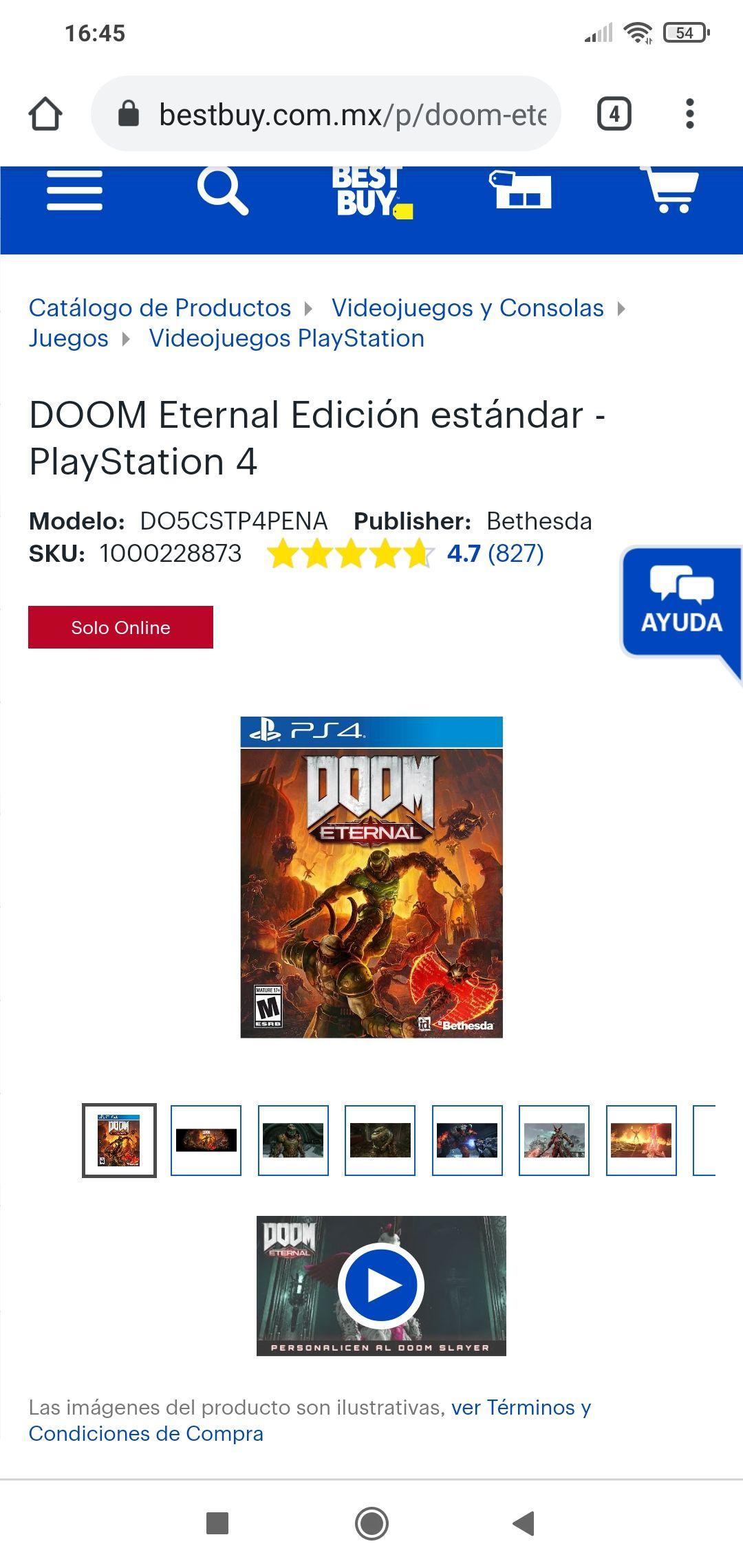 Best Buy: Doom eternal ps4