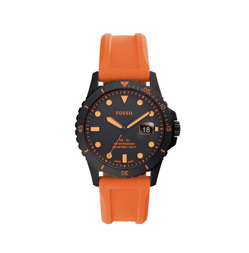 Claro Shop: Reloj Fossil anaranjado caucho