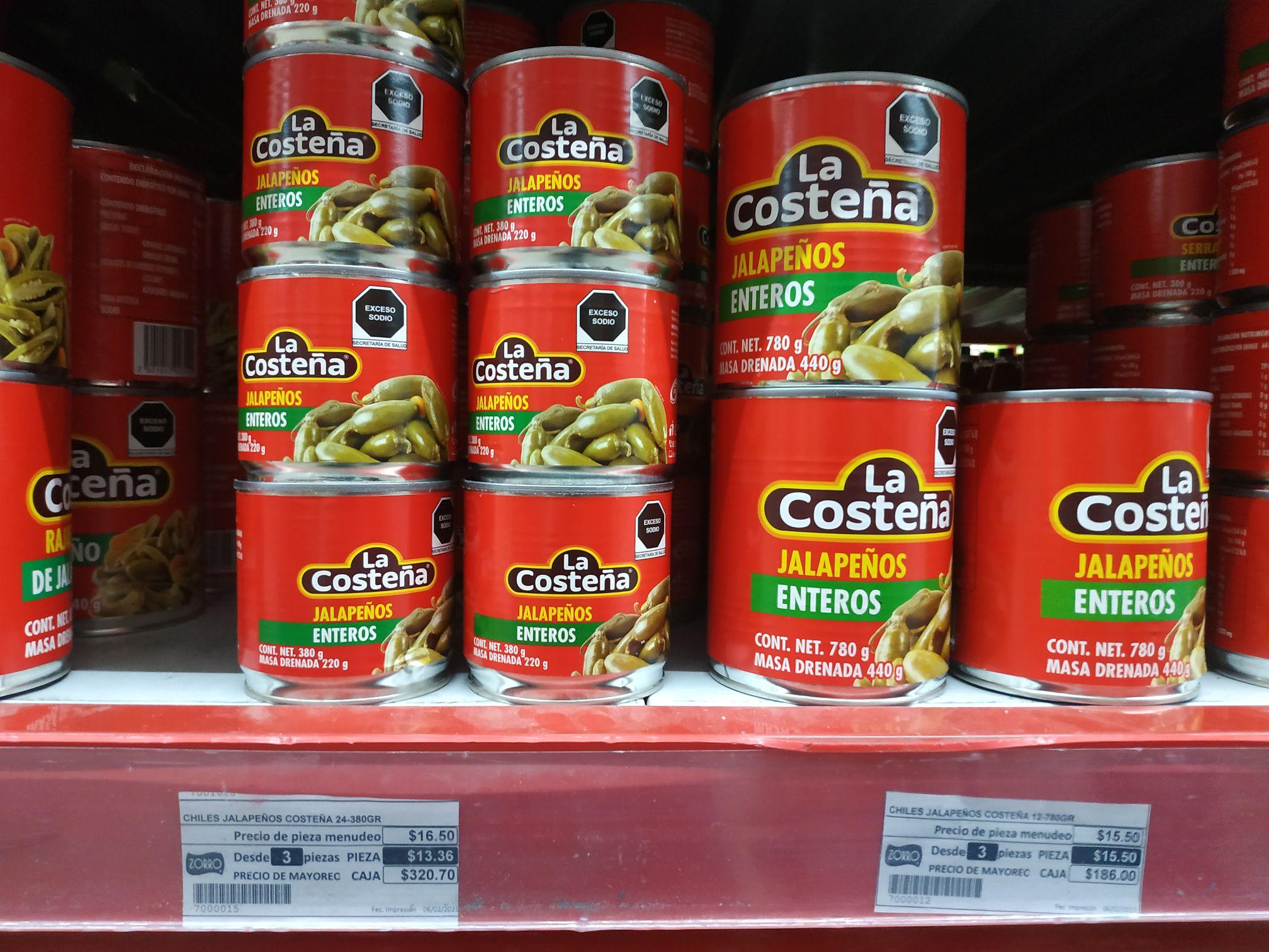 ZORRO: Chiles jalapeños enteros de 780g a solo 15.50