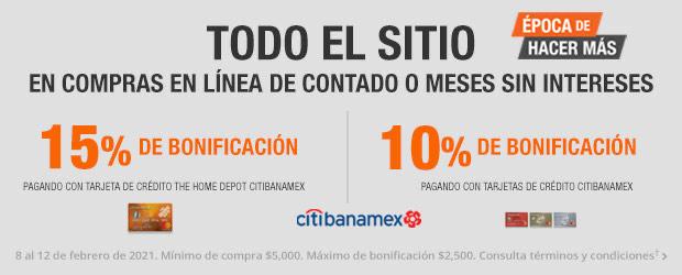 Home Depot: 15% De Reembolso con Citibanamex