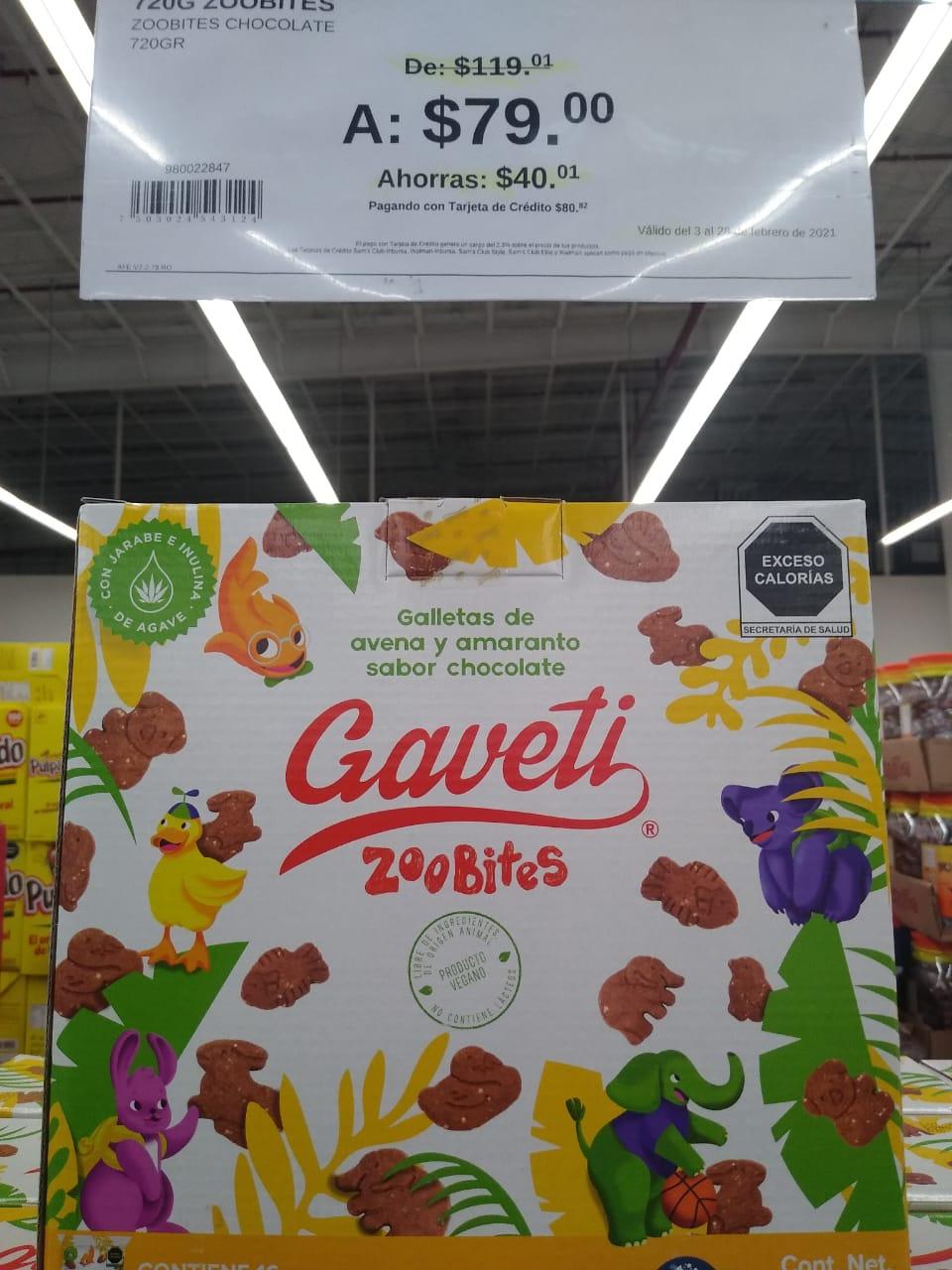 Sam's club Galletas Gaveti