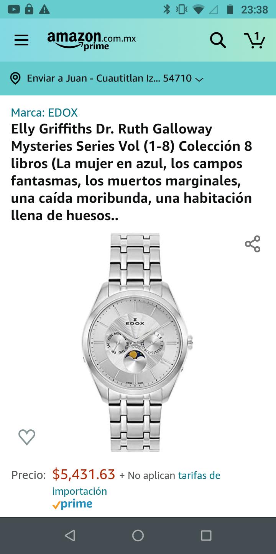Amazon: Reloj Edox me gusta él frío