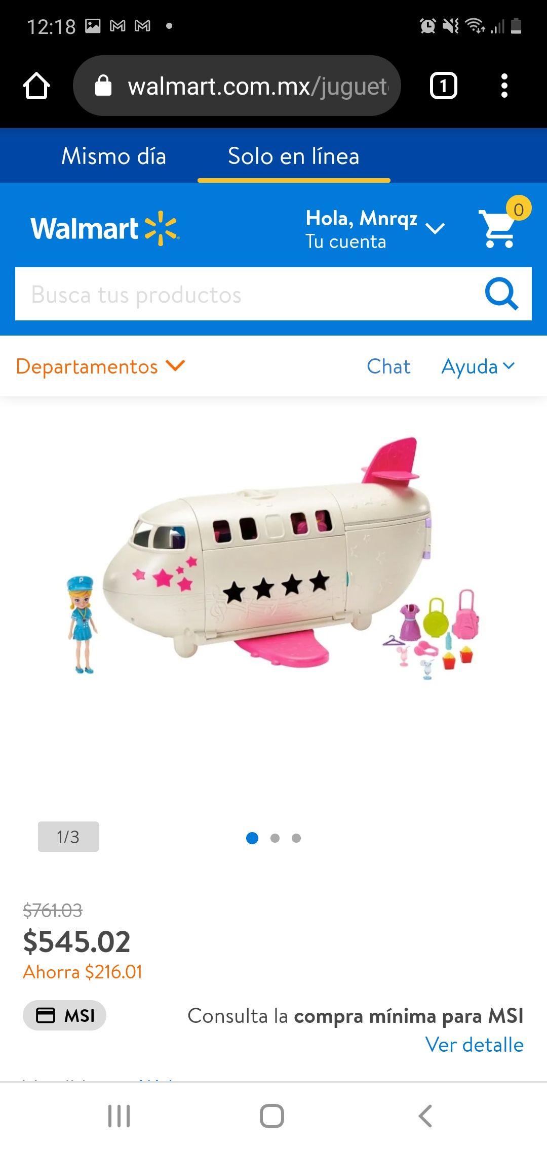 Walmart: Polly pocket mega Jet privado