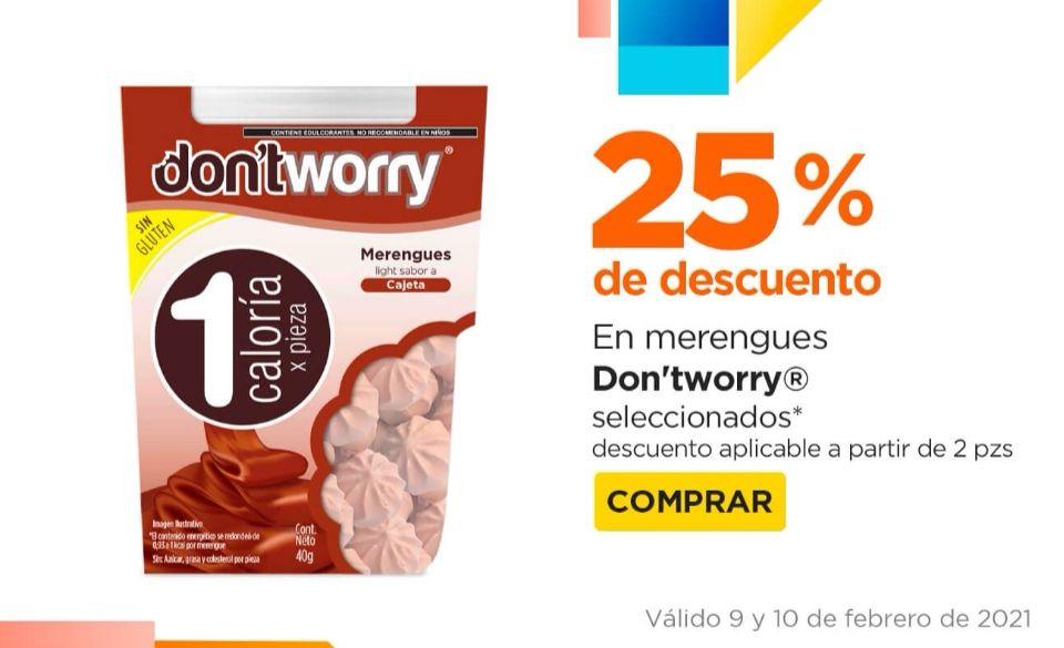 Chedraui: 25% de descuento por cada 2 paquetes de merengues don'tworry