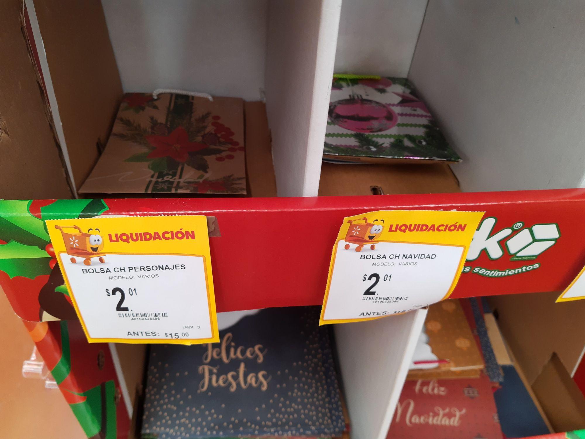 Walmart Bolsas de regalo-navidad y otras cosas más