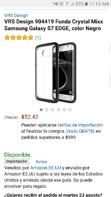 Amazon: Funda Crystal Mix para Samsung Galaxy S7 EDGE