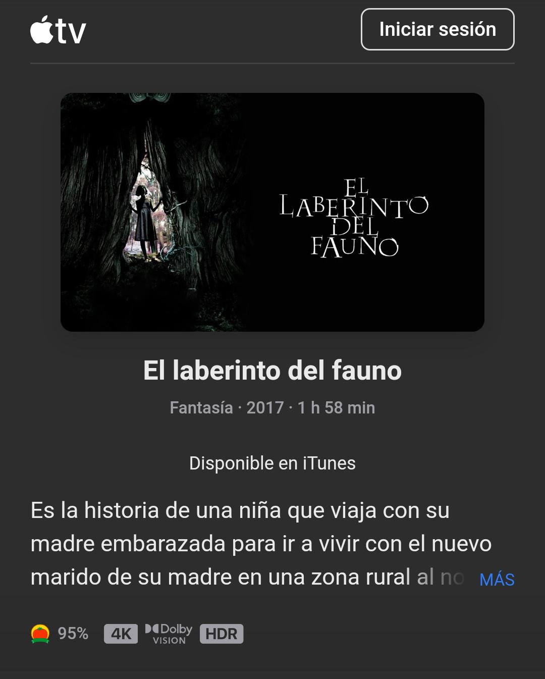 iTunes: El Laberinto del Fauno - 4K