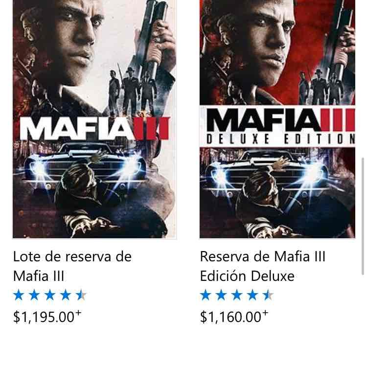 Microsoft Store: Mafia 3 Deluxe Edition Xbox digital