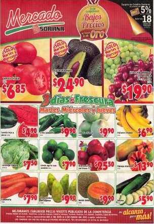 Martes de Mercado en Soriana julio 31: tomate $7.45, manzana $18.65 y más