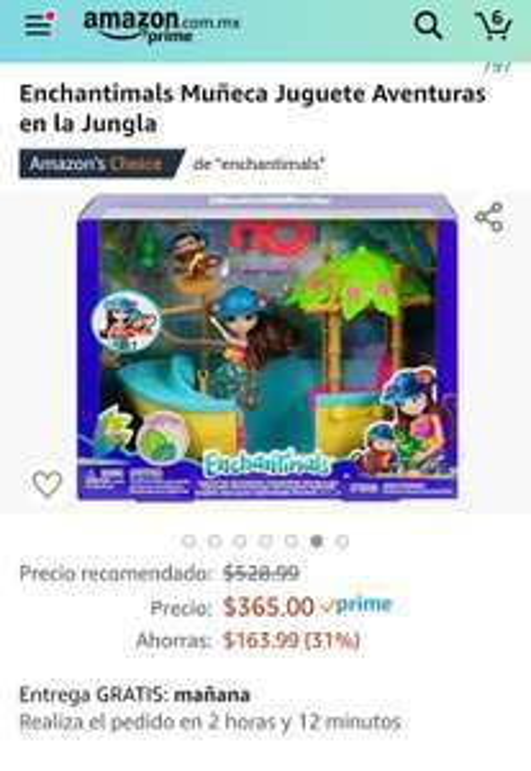 Amazon: Enchantimals Muñeca Juguete Aventuras en la Jungla