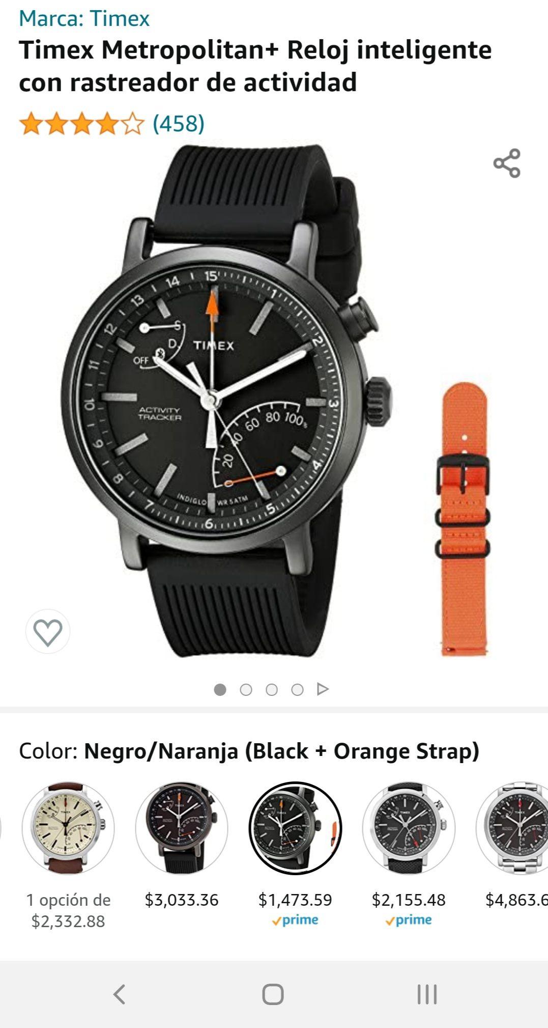 Amazon: Reloj híbrido Timex Metropolitan