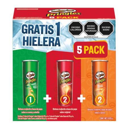 Sam's Club: Pringles Mix 5 pzas de 124 g c/u + 1 Hielera