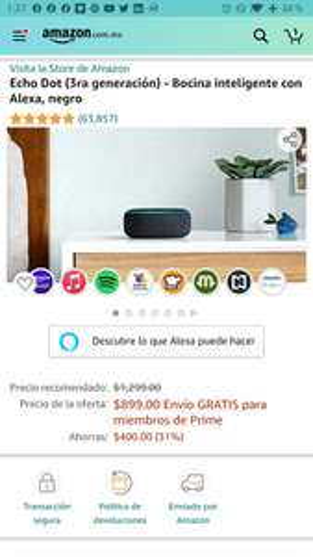Amazon echo dot 3 gen