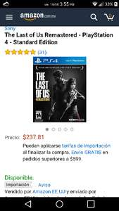 Amazon: The Last Of Us para PS4