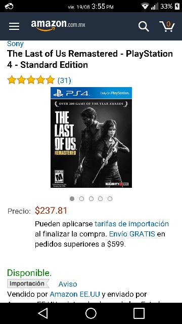 Amazon: The Last Of Us para PS4