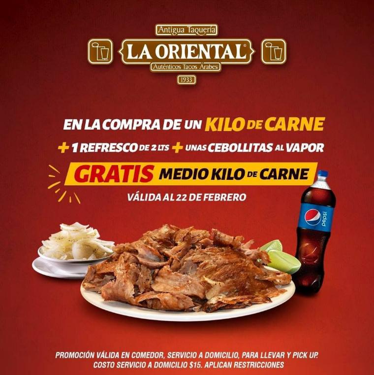 Taquería la oriental Puebla, Puebla 1/2 kilo gratis