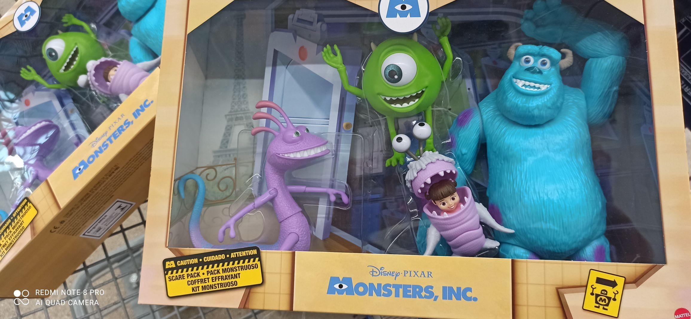 Sam's Club Cancún: Set Pixar Monsters Inc Mattel Mattel con 4 pzas
