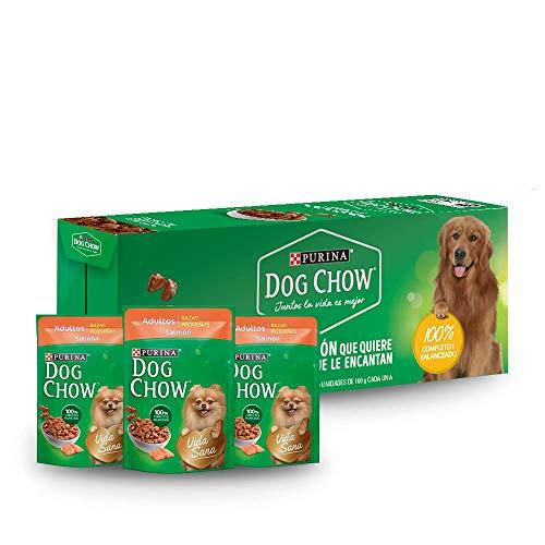 Amazon: DOG CHOW Alimento Húmedo Salmon, Paquete con 20 Pzas de 100g