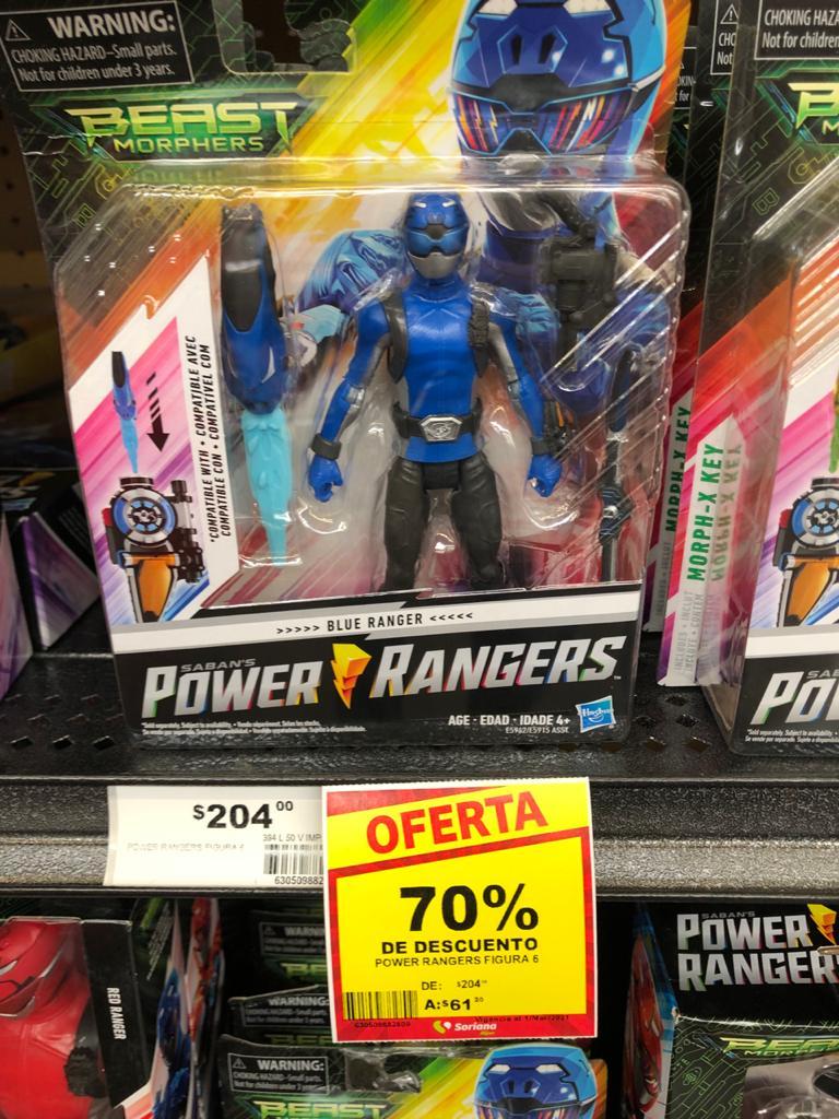 Soriana Hiper Cocoyoc: Figura de Power Rangers con el 70%
