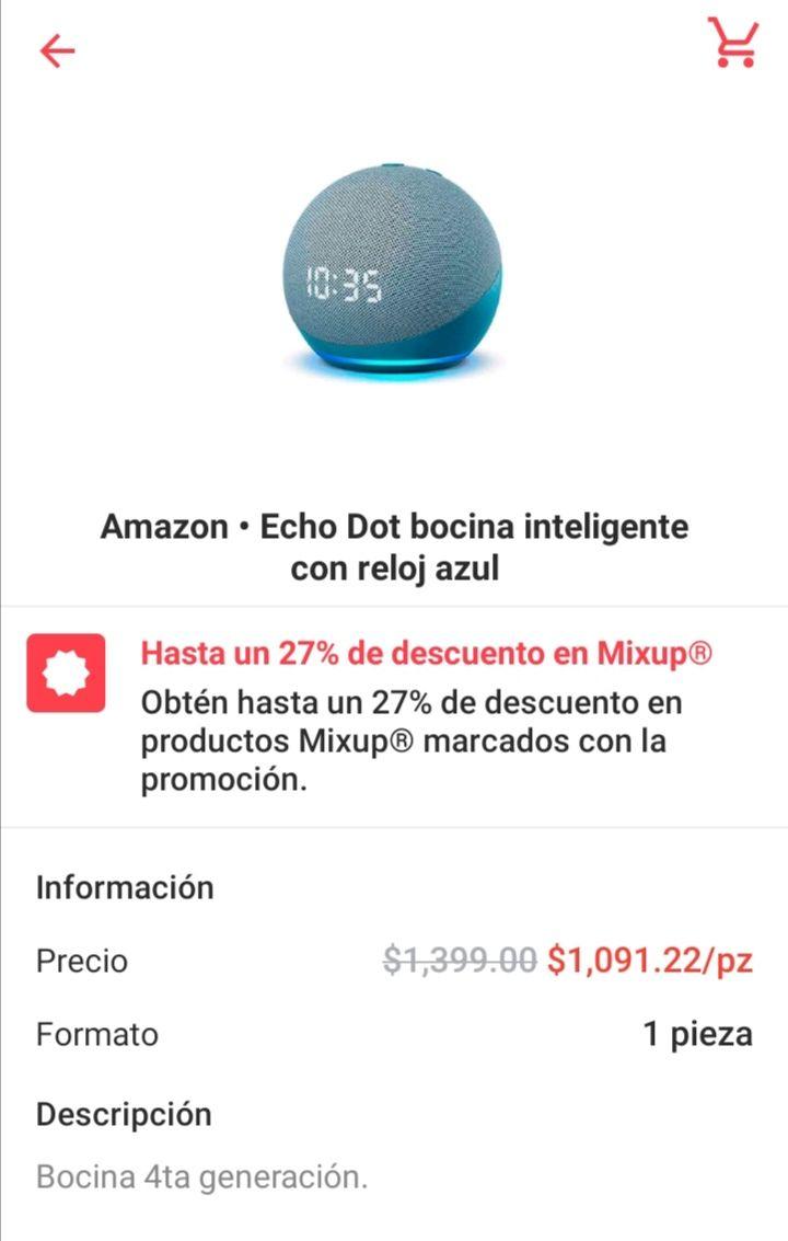Cornershop: Echo Dot con Reloj