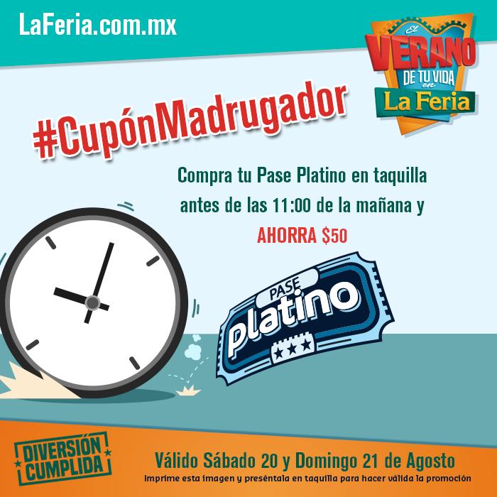 La Feria de Chapultepec: cupón $50 en la compra de Pase Platino