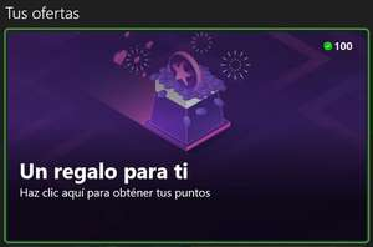 Xbox - 100 puntos Microsoft Rewards
