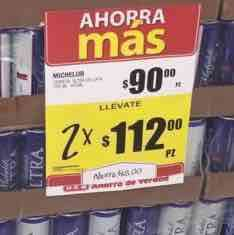 HEB Mty: Michelob Ultra 2 six por $112