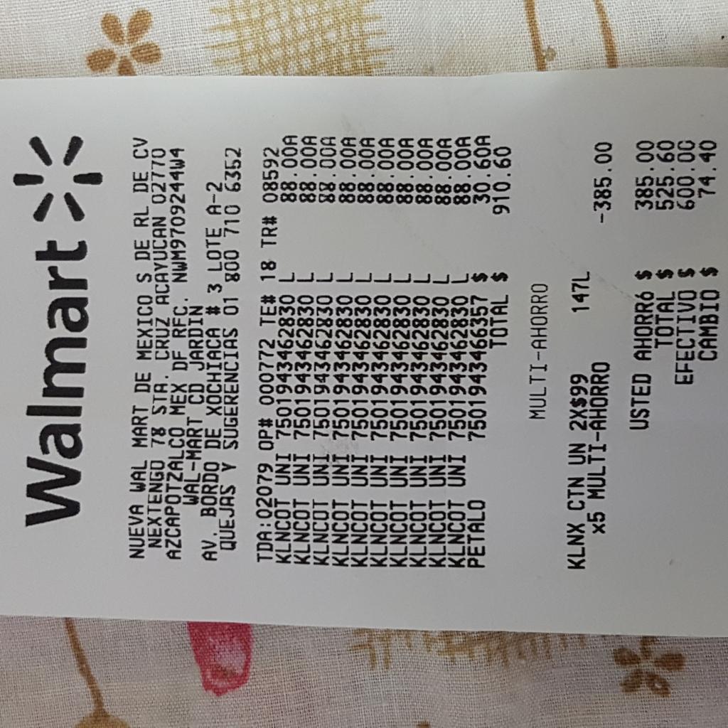 Walmart: papel higiénico cottonelle 2 x$99, 18 rollos c/u
