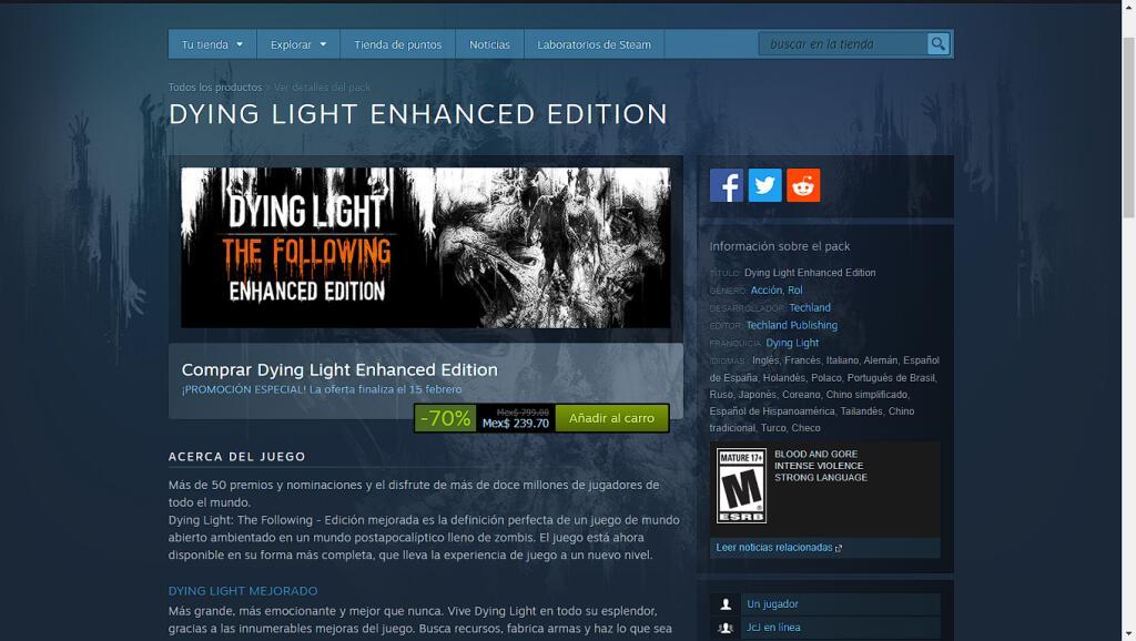 DYING LIGHT ENHANCED EDITION Steam